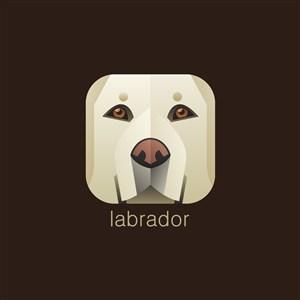 拉布拉多圖標寵物店logo素材