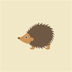 刺猬矢量图标食品公司logo素材