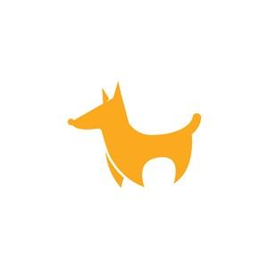黃色小狗矢量logo設計素材