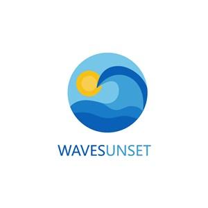 波浪標志設計傳媒矢量logo素材