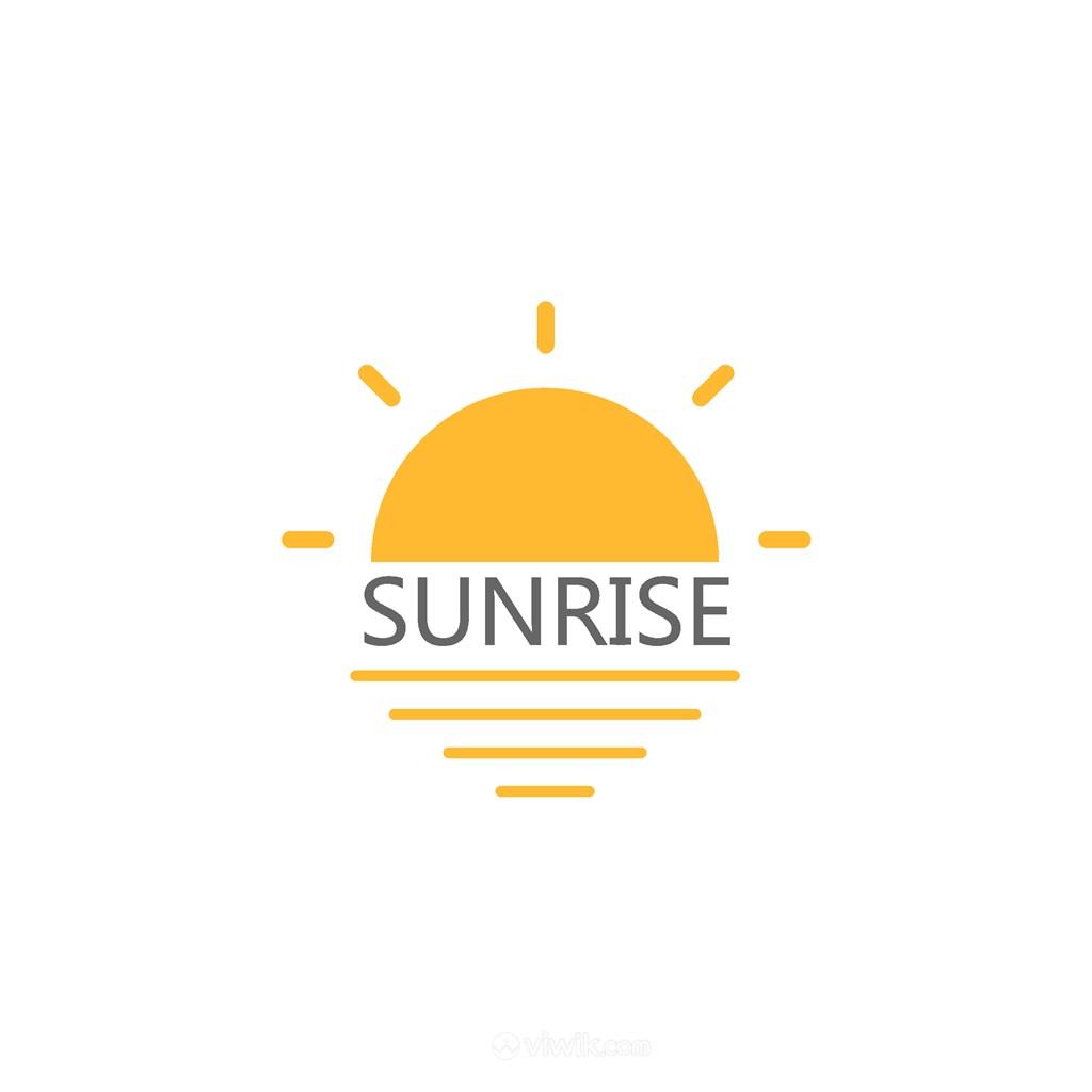 太阳矢量图标登山旅游logo素材
