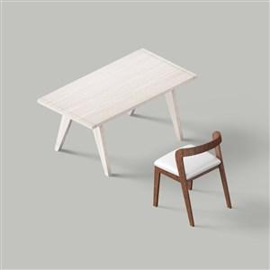 桌子椅子样机素材
