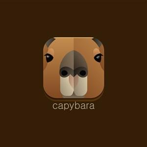 水豚图标设计传媒logo素材
