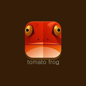 番茄蛙矢量图标设计传媒logo素材