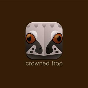 冠蛙矢量圖標設計傳媒logo素材