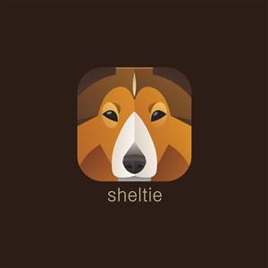 牧羊犬矢量logo圖標