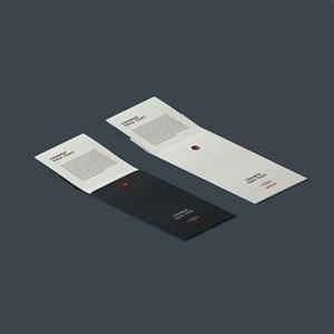 信纸信封样机素材