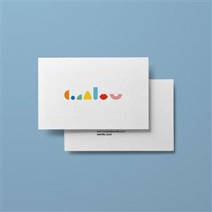 嬰幼兒品牌VI名片樣機