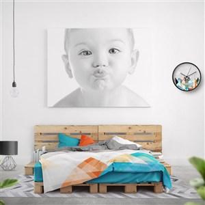 婴幼儿品牌VI床头挂画个人写真贴图样机