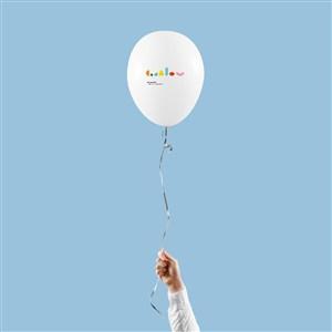 嬰幼兒品牌vi氣球貼圖樣機