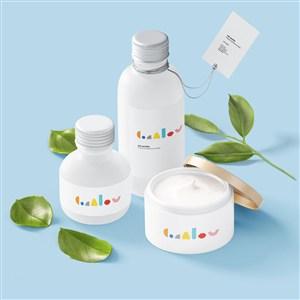 嬰幼兒品牌VI護膚品包裝樣機