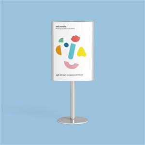 嬰幼兒品牌VI海報樣機