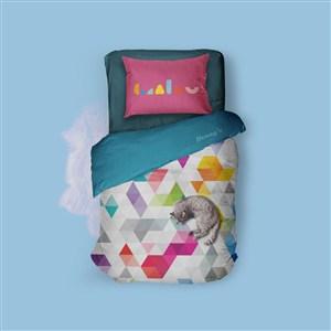 婴幼儿品牌VI枕头贴图样机