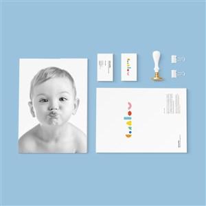 婴幼儿品牌VI样机模板