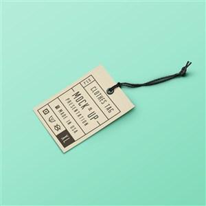 服装标签牛皮纸吊牌样机