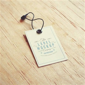 服装吊牌标签贴图样机