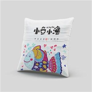 高端中餐VI抱枕貼圖樣機