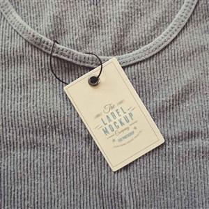 服装料标签吊牌贴图样机