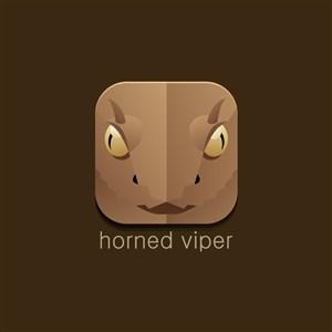 角蝰蛇矢量logo图标