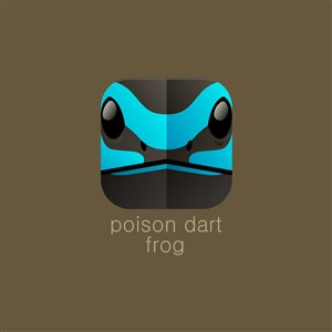 毒箭蛙矢量图标设计传媒logo素材