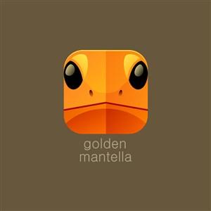 金色曼蛙矢量logo圖標