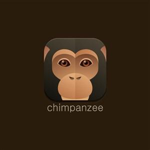黑猩猩圖標服裝公司矢量logo素材