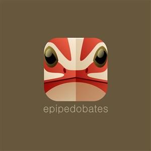 箭毒蛙图图标设计传媒logo素材