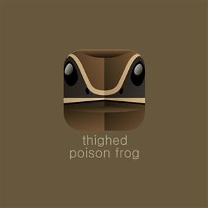 毒蛙圖標設計傳媒矢量logo素材