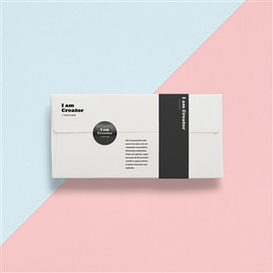 创意白色信封设计样机