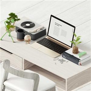 創意辦公桌面手提電腦樣機素材
