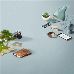 创意时尚办公桌面样机素材