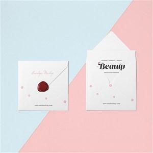 创意信封设计样机贴图素材