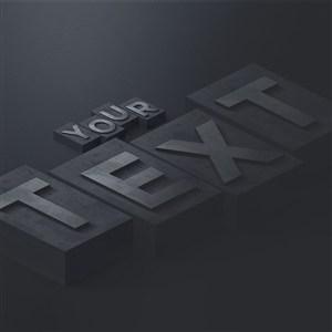 创意办公桌面字母logo样机