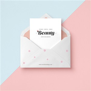 創意信封信紙卡片樣機