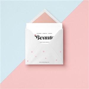 創意信封設計樣機貼圖素材