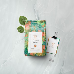 时尚女性品牌vi包装袋样机素材