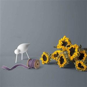 時尚豪華桌面干花樣機素材