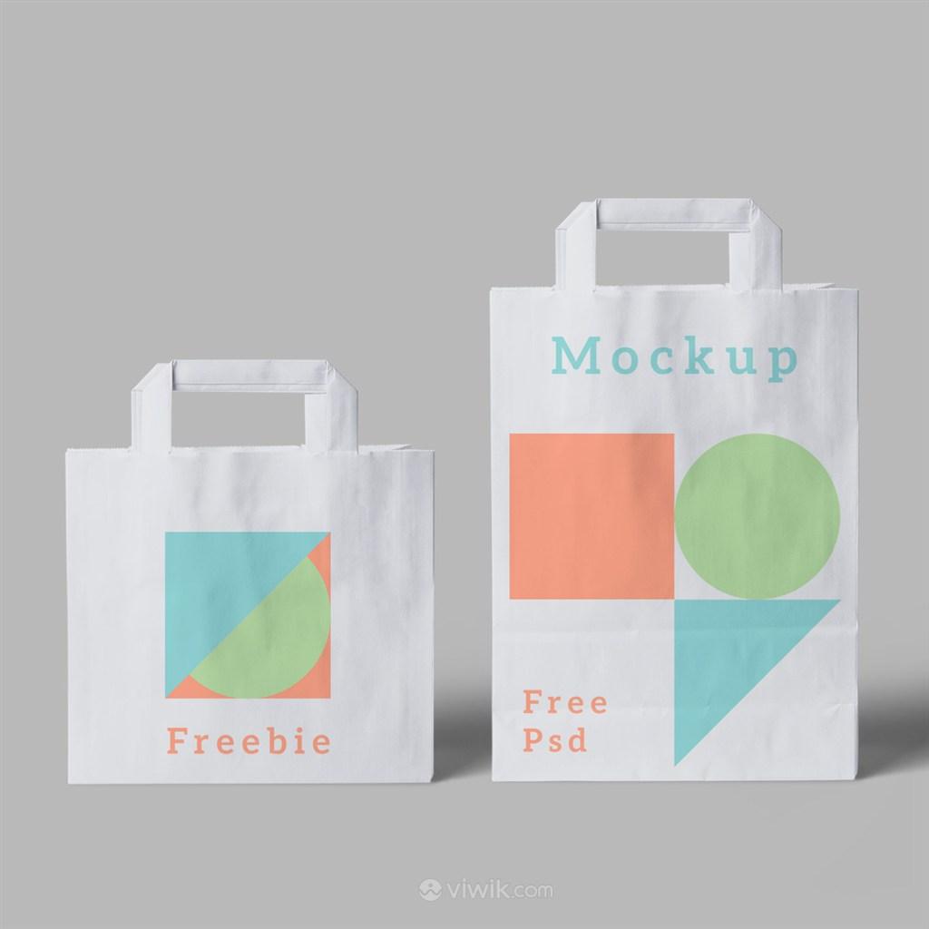 时尚女性VI环保购物袋样机