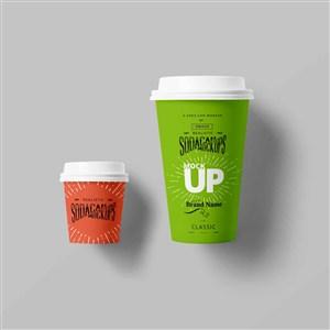 咖啡杯贴图样机