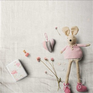 小清新文艺时尚桌面娃娃手工艺品摆件样机