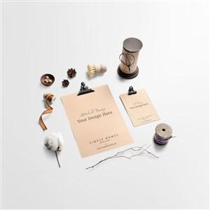 小清新文藝時尚海報桌面擺件樣機素材