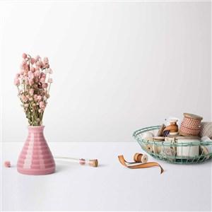 小清新花瓶绸带文艺时尚桌面摆件