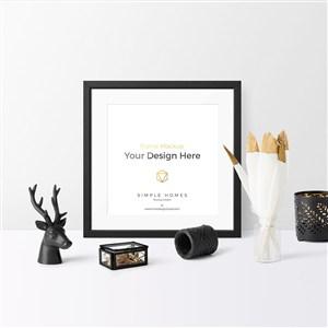 轻奢桌面相框静物样机贴图素材