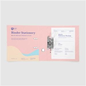 办公用品VI打开的文件夹样机