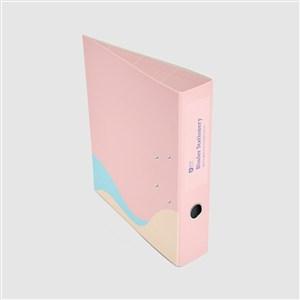 粉色资料册样机素材