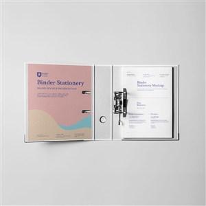 办公用品VI文件夹样机