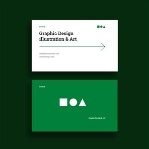 綠色商務名片設計模板