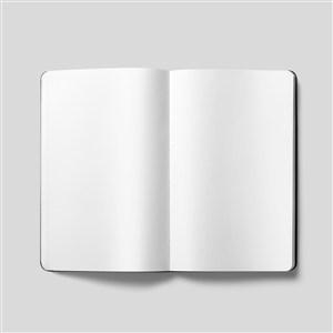 打开的空白本子样机素材