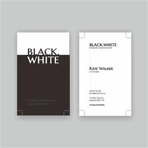 黑白artist商务名片模版