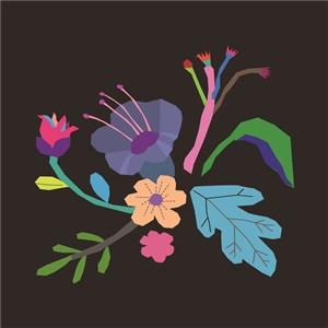 扁平化矢量花卉素材